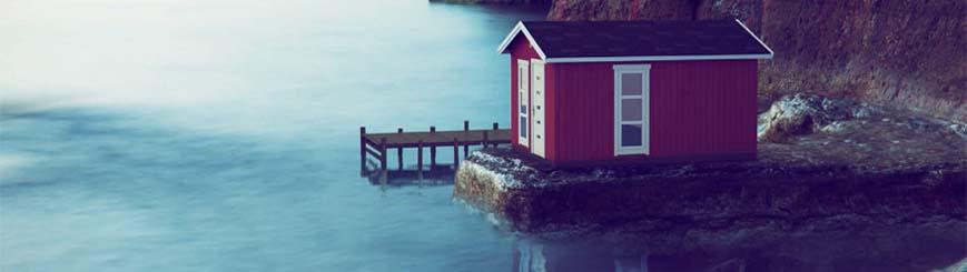 cabaña en lago