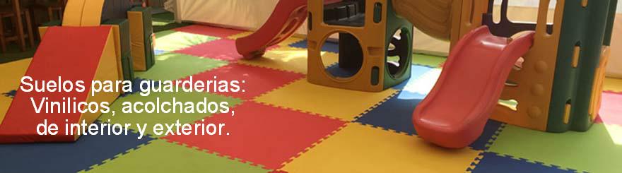 Suelos y equipamientos de gimnasios, guarderías y parques infantíles
